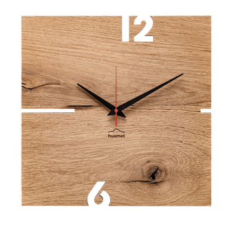 Holz Wanduhr Eiche modern