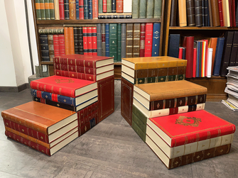 Customized leather library ledder - Conti Borbone - Luxury gift