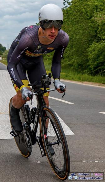 Der spätere Sieger Daniel Westmattelmann vom Team Kuota-Lotto war gar schneller als Nils Politt vom Pro Tour Team Katusha.