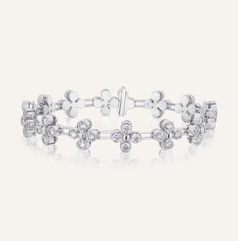 """Bracelet """"Adore"""" aus 18-Karat white gold with round brilliants. 100% Swiss handmade"""