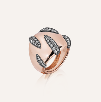 """Ring """"Tigre"""" in 18-Karat pink and white gold with round brilliants. 100% Swiss handmade"""