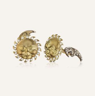Koenig Sun & Moon Cufflinks - 100% swiss handmade