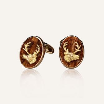 Koenig Hunting Season Cufflinks - 100% swiss handmade