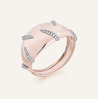 "Bracelet ""Tigre"" in 18-Karat pink gold with round brilliants. 100% Swiss handmade"