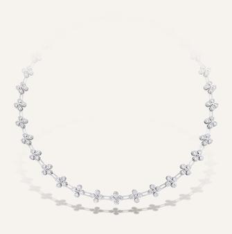 """Koenig Necklace """"Adore"""" in 18-Karat white gold with round brilliants. 100% Swiss handmade"""