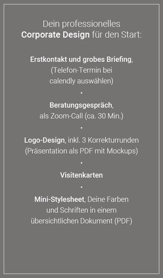 Corporate Design Starter Kit Design-Paket