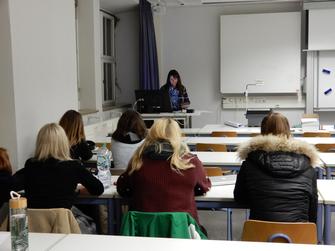 Bei einem Vortrag bei der Fachhochschule Geislingen am 4.12.2018