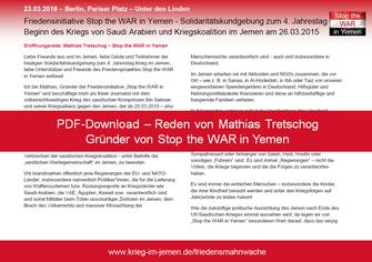 23.03.2019 - Berlin: Solidaritätskundgebung zum 4. Jahrestag saudischer Krieg gegen den Jemen - PDF-Download - alle Reden von Mathias Tretschog