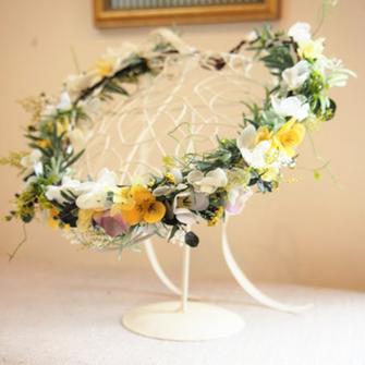 プリザーブドフラワー,花冠,ヘッドアクセサリー,結婚式,ウェデング