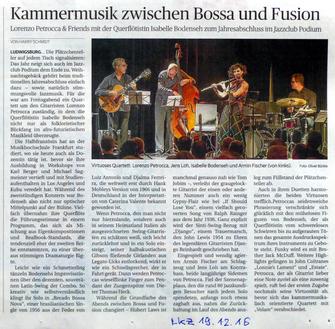 Jahresabschlusskonzert der Ludwigsburger Kreiszeitung vom 19.12.2016 von Harry Schmidt