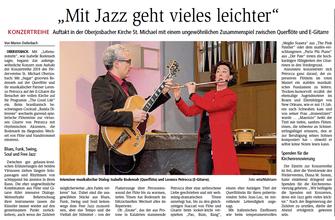 Konzert Oberjosbach, Artikel von Marion Diefenbach vom 19.02.2018