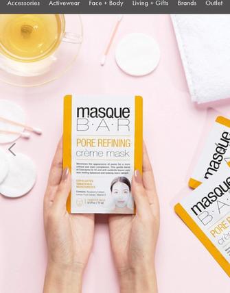 Pore refining face mask