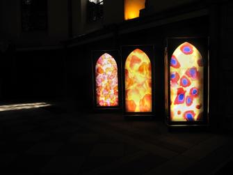 #SylvieLander -vitraux-Nuit de Lumiere-Eglise Saint-Thomas / Strasbourg