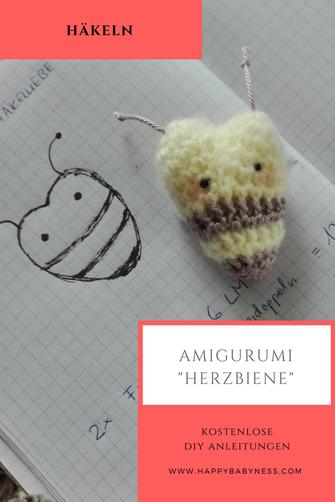 Witzige Biene - Häkelanleitung - myPatterns.de | 502x335