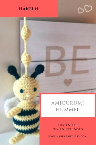 Kleine Amigurumi Biene – eine kostenlose Anleitung | MyCrochetProjects | 502x335