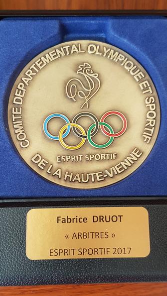 Fabrice Druot médaillé Esprit Sportif 2017