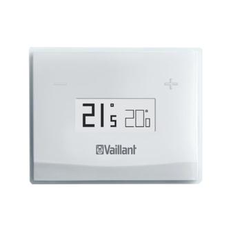 centralina vsmart vaillant installata a parete compatibile con caldaie vaillant per controllare riscaldamento e acqua sanitaria a distanza con wifi e internet