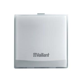 dispositivo wifi della centralina vsmart vaillant installato a parete compatibile con caldaie vaillant per controllare riscaldamento e acqua calda sanitaria a distanza con internet a torino e provincia