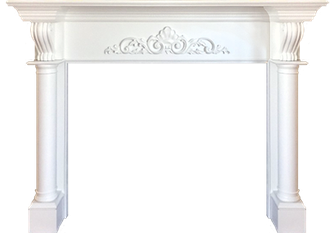 San Antonio's Glenayre Wood Fireplace Mantel