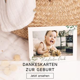 Geburt Baby Dankeskarten