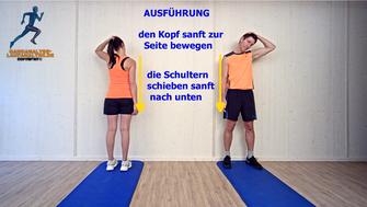 statische Dehnung, Halsmuskulatur, Stretchingübungen, Physio Übungen