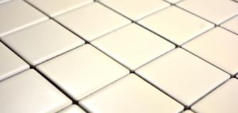 5x5cm Mosaik matt beige
