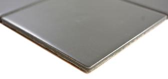 5x5cm Mosaik matt metallgrau