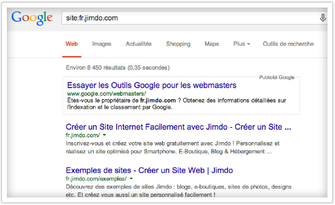 indexation d'un site jimdo