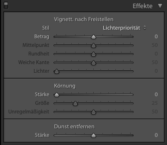 Adobe Lightroom Einstellungen zur Vignette von Tobias Gawrisch (Xplor Creativity)