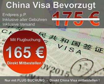 China Visa Bevorzugt mit Flugticket