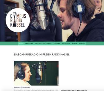 Screenshot Webseite des Campusradios Kassel