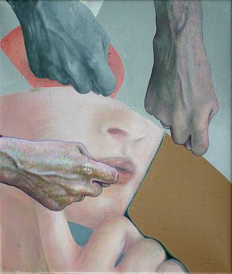Faust aufs Auge, 2004/2016. (Öl / Leinwand, 35 x 30 cm)