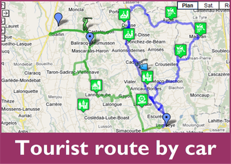 tourist road by car vic-bilh