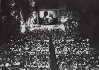"""1946- Sala all'aperto del Grand Hotel (G. Volonterio, """"Per uno spazio autonomo"""" Ed. Festival Locarno 1977)"""