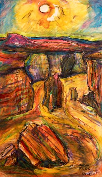Bettina Heinen-Ayech (1937-2020): Impression aus der lybischen Wüste bei Luxor, 1962