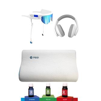 Oreiller et huile essentielles lunettes casque  Psio