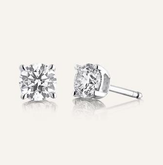 """Diamant Ohrstecker """"Classic"""" aus 18-Karat Weissgold mit 2 Diamanten im Brillantschliff. GIA-zertifiziert. 100% Swiss Handmade"""