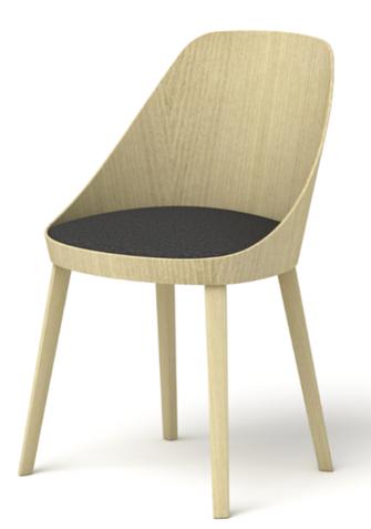 kaiak enea silla de comedor cocina oficina moderna de madera tapizada