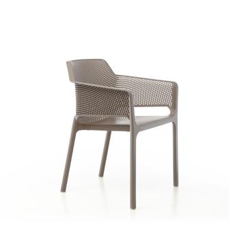 net silla con brazos para exterior apilable terraza nardi