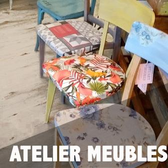 atelier et cours de relooking de meubles, peinture et tapisseries