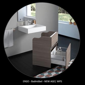 WPS ERGO-Serie mit der barrierefreien Badmöbel Serie NEW AGE