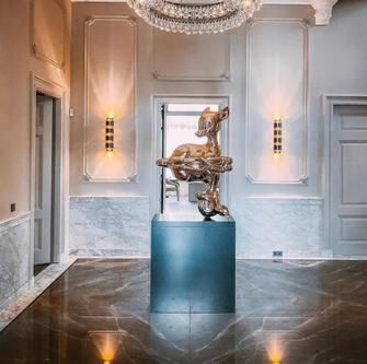 Bronze Armani marble hallway