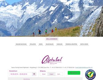 Webdesign Panorama Kidsshotel Alphubel durch dcg-consult