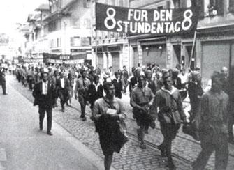 Socialistisk ungdomsdemo i Schweiz,  1920
