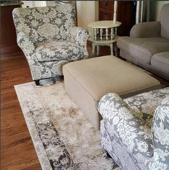 Slipcovered Club Chairs