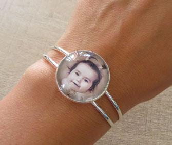 Bracelet avec photo personnalisée