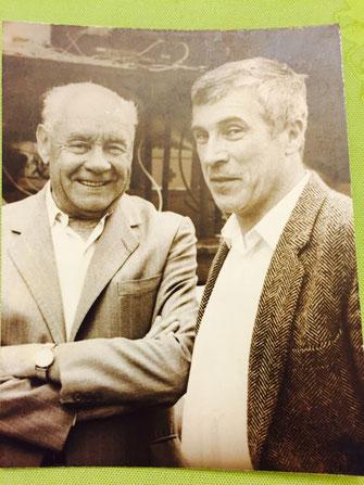 Charles Puille, à gauche, avec Jimmy Binet. Deux témoins des premières heures du cyclisme picard.