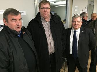 Président du comité de Picardie de cyclisme, Hubert Louvet (à droite) représentait Claude Fauquet le président du CROS Picardie.