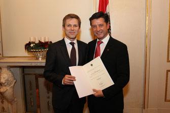 KommR DI Dr. Gerhard Hrebicek MBA, Dr. Josef Ostermayer, Staatssekretär im Bundeskanzleramt