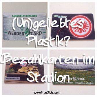 In vielen Stadien in Deutschland kann man nunmehr nur noch mit Bezahlkarten statt Bargeld zahlen.